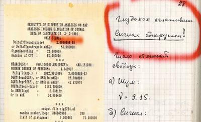 Рис. 2. Страница из рабочей тетради Андрея Брюханова.
