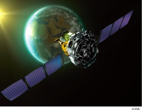 Рис 4. Обсерватория ИНТЕГРАЛ (с) ESA