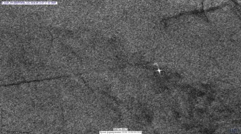 Район расположения судна (по данным Sentinel-1A)