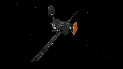 """""""Связка"""" аппаратов миссии """"ЭкзоМарс-2016"""": TGO и """"Скиапарелли"""" (с) ESA/ATG medialab"""
