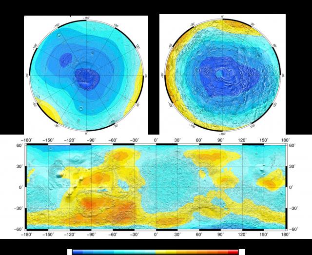Карты нейтронного излучения Марса по данным прибора ХЕНД