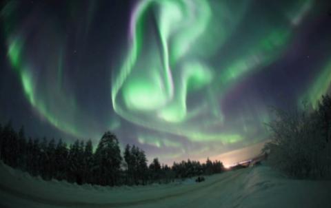 Северное сияние. Фото Полярного геофизического института