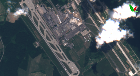 Аэропорт Домодедово 9 июля 2019 г. по данным Sentinel-2A. Естественный синтез