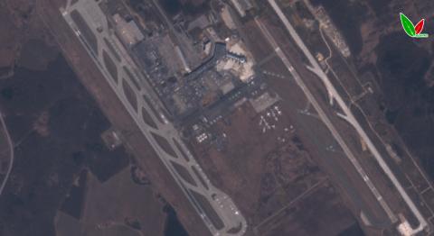 Аэропорт Домодедово 9 апреля 2020 г. по данным Sentinel-2B. Естественный синтез