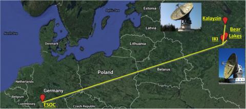 Расположение РКПНИ и ESOC