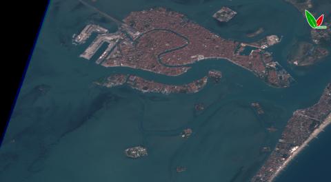 Венецианская лагуна по данным спутника Sentinel-2 10 апреля 2020 г. Естественный синтез