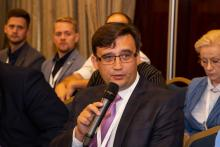 Андрей Садовский, ученый секретарь ИКИ РАН, выступает на Третьем Евразийском аэрокосмическом конгрессе (с) ЕАК