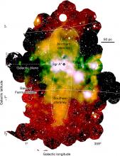 Область вблизи центра Галактики — Млечного пути в рентгеновских лучах, по данным обсерватории XMM-Newton. Изображение © MPE/ESA/XMM-Newton/G. Ponti et al. 2019, Nature