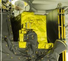 Лётный экземпляр комплекса АЦС на борту аппарата TGO, покрытый экранно-вакуумной изоляцией (с) Роскосмос/ЕКА/ЭкзоМарс/АЦС/ИКИ