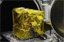 Спектрометрический комплекс АЦС в экранно-вакуумной теплоизоляции перед термовакуумными испытаниями в ИКИ РАН (с) Роскосмос/ЕКА/ЭкзоМарс/АЦС/ИКИ