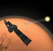 Приборы TGO исследуют атмосферу Марса в режиме «солнечных затмений» (с) ESA/ATG medialab