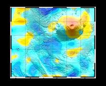 Область вулкана Олимп по данным приборов ХЕНД и ФРЕНД