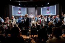 Приветствие Нобелевских лауреатов. Фото (с) Patrick Kunkel/Lindau Nobel Laureate Meetings