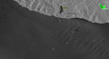 Радиолокационное изображение (Sentinel-1) 7 августа 2021 г.