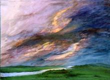 А.Л. Чижевский. Вечер после дождя. С любезного разрешения А.Л. Голованова