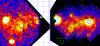 Изображение, полученное с семи детекторов телескопа ART-XC, и мозаика изображений телескопа NuSTAR (НАСА)
