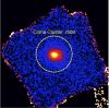 Скопление галактик в созвездии Волосы Вероники, по данным телескопа ART-XC (4–12 кэВ). Изображение: ИКИ РАН